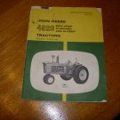 John Deere 4020 Row-Crop Standard  and Hi-Crop Tractor Operators Manual