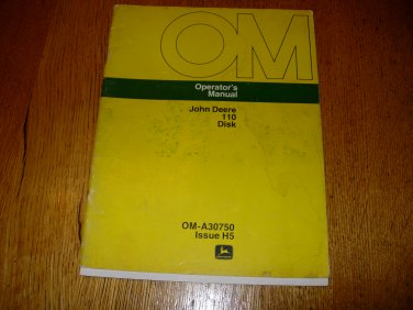 John Deere 110 Disk Operators Manual
