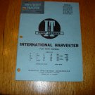 I & T Shop Service International Harvester Flat Rate Manual IH-13