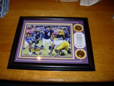 Limited edition picture of Brett Farve in his first game as a Viking against the Packers
