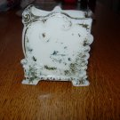 Vintage Early Opaque Milk Glass Playing Card Holder