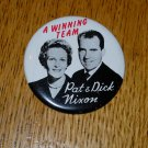 Vintage 1960 Pat & Dick Nixon Political Button