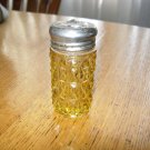Antique Diamond Block Variant Amber Pressed Glass Salt Shaker