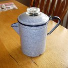 Vintage Blue Speckled Granite/EnamelWare Coffee Pot