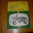 John Deere 4010 Row-Crop and Standard Diesel Tractor Operators Manual