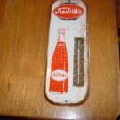 VINTAGE METAL  NESBITT'S ORANGE SODA THERMOMETER 1960's