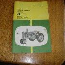 John Deere Model A Tractor Operators Manual