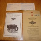 Vintage Briggs & Stratton Model 6B-H Operating Instruction Manual