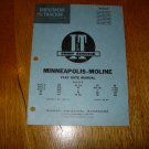 I & T Shop Service Minneapolis Moline Flat Rate Manual MM-12