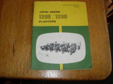 John Deere 1260 & 1280 Planter Owners Manual