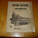 Vintage Minneapolis Moline Uni-Harvestor Repair Catalog Model LA