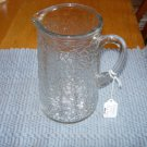 Vintage Federal Glass Jack Frost Crackle Glass Pitcher