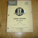 VINTAGE I&T SHOP MANUAL for John Deere 435D and 440ID TRACTORS, Manual No  JD-18.