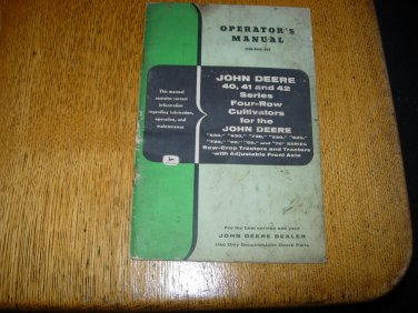 John Deere 40 41 42 Series Four-Row Cultivators Operators Manual