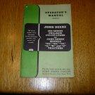 John Deere 200 Series Two-Row Cultivators Operators Manual
