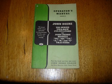 John Deere 200 Series Two-Row Cultivators Operators Manual