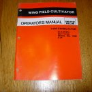 Deutz Allis 1400 Chiselvator Wing Field Cultivator Owner's Operator's Manual.