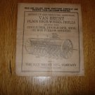 Original Van Brunt Plain High-Wheel Drill Operators Manual 1927