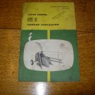 John Deere No 6 Forage Harvester Owners Manual