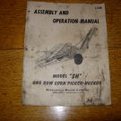 Minneapolis Moline Model SH One Row Corn Picker Operation Manual