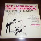 "MY FAIR LADY Rex Harrison Julie Andrews 12"" Vinyl LP 33RPM 1956 Columbia OL 5090"