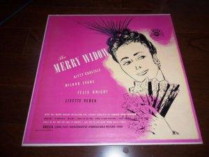 "THE MERRY WIDOW Selections, Opera 12"" Vinyl LP 33 RPM 1949 DECCA DLP 8004 MINT"
