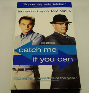 Catch Me If You Can (VHS, 2003) Leonardo DiCaprio, Tom Hanks, Steven Spielberg