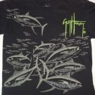 Black School of Fish Fishing T-Shirt Art by GUY HARVEY, Men's Size Medium M EUC