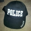 POLICE Style Hat Black Embroidered Adjustable Fun Novelty Baseball Ball Cap NEW!
