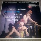 "Perry Como Sings Hits From Broadway Shows - Vintage 7"" Vinyl Single EPA-728 VG"