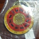 Chinese Zodiac Astrology Wheel Keychain Keyring From Princess Cruises Asia, NEW