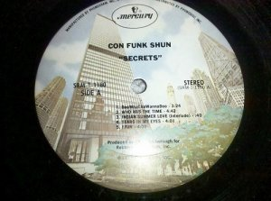 "Con Funk Shun - Secrets 1977 Mercury 12"" Vinyl Record LP Funk SRM-1-1180"