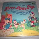 "Disney's Stories and Songs of Three Little Pigs 1967 Vintage 12"" Vinyl LP 33 RPM"