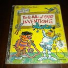 A Little Golden Book: Bert's Hall of Great Inventions, Sesame Street #321 (1978)