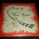 """Tom Lehrer - Songs By Tom Lehrer 1953 LP 12"""" Vinyl Novelty Pop Album TLP-1 VG+"""