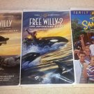 Set of 3 Classic Family WB VHS Video Tapes: Free Willy 1 & 2, & The Sandlot VG+