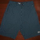 BILLABONG Skater Surfer Style Black Blue Checker Casual Shorts, Men's Sz 30 NWOT