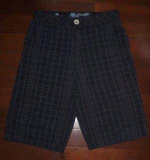 MICROS Black Dark Gray Striped Checkered Casual Shorts from LA Boys Kids Size 18