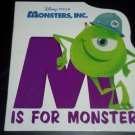 M Is for Monster, Walt Disney Enterprises & Pixar Animation Hardcover Board Book