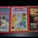 Set of 3 Scholastic Reader Paperback Children's Books: Christmas Penguin & More