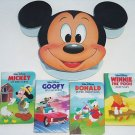 Disney's Rockin' Mickey (1993, Hardcover) 4 Board Book Set, Winne The Pooh Goofy