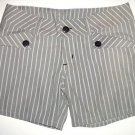 LOST Enterprises White & Gray Surfer Striped Shorts, Women's Juniors Size 3 NWOT