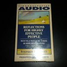 Reflections for Highly Effective People by Stephen R. Covey (Cassette Audiobook)