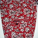 SIDEOUT Hawaiian Style Board Shorts, Red White Floral, Swim Surf, Men's Size 36