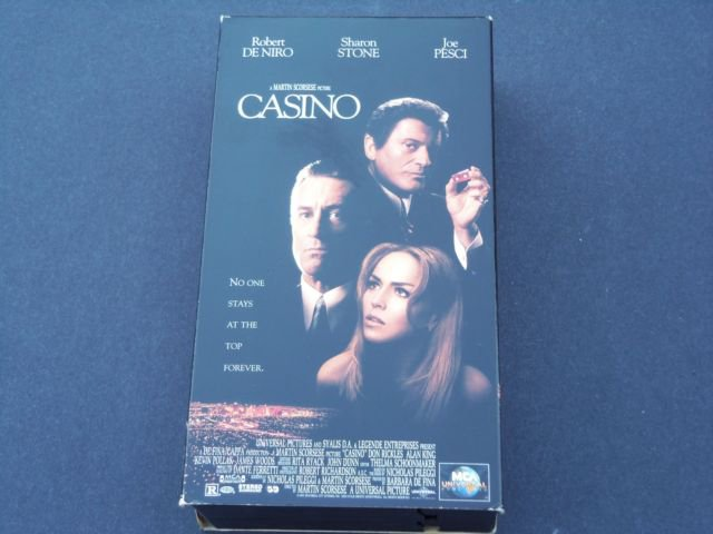 Casino (VHS, 1996, 2-Tape Set, Full Screen Pan & Scan) De Niro, Martin Scorsese