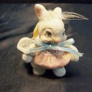 Adorable Hand Crafted Baby Bunny Rabbit Sculpture Figure Kristin Cast Art Easter