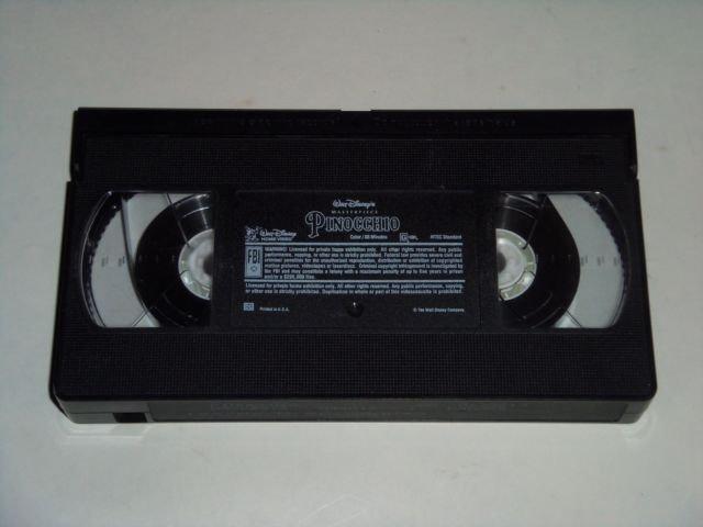 Pinocchio (VHS Movie, 1993) Walt Disney's Masterpiece ...