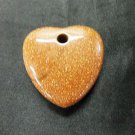 Glittery Orange Heart Shaped Stone Love Pendant Necklace Jewelry Valentine's Day