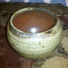 Handmade Textured Glazed Clay Art Pottery, Good Condition, Unknown Artist