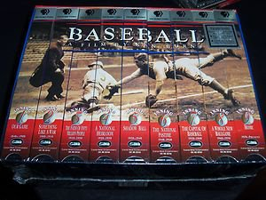 Baseball: A Film by Ken Burns - Nine Inning Boxed Set (VHS 1997, 9-Tape Box Set)